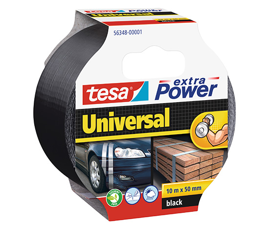 tesa® Extra Power Universal Duct Bant, 10m:50mm, Siyah
