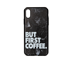 But First Coffee IPhone X Rubber Telefon Kılıfı