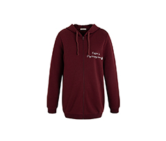 Bordo Fermuarlı Coffee Sweatshirt